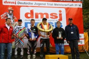 Unsere Meister 2014: Hendrik Binder (Deutscher Jugend Trial Meister) Luca Winkler (Deutscher Jugend Trial Cup) Hendrik Lincks (Deutscher Jugend Trial Pokal) Moritz Curschmann (Deutscher Schüler-Trial-Pokal)