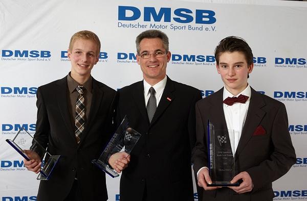 von links: Florian Alt, Jürgen Hieke (dmsj Vorsitzender), Michael Härtel