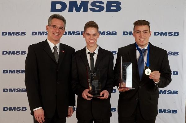 von links: Jürgen Hieke (dmsj Vorsitzender), Sandro Wassermann, Sascha Neumann