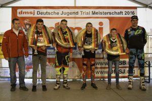 Gruppenfoto dmsj - Deutsche Jugend-Trial-Meisterschaft 2016