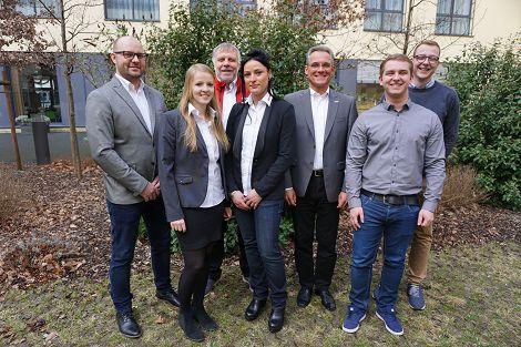 von links: René Schäfer, Kirsten Hasenpusch, Harald Rabe, Maria Schuch, Jürgen Hieke, Florian Pötzl, Max Kumpf nicht auf dem Foto: Harald Rabe