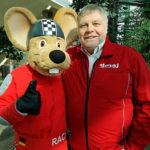Harald Rabe mit Rennmaus RACY